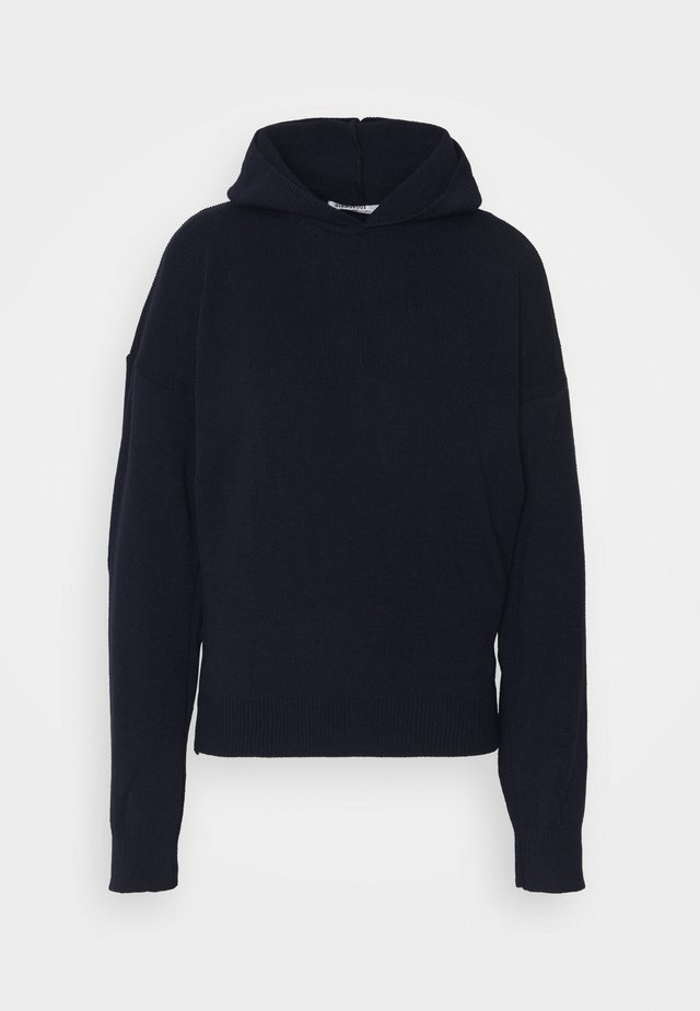 HOODED JUMPER WITH LONG SLEEVES - Huppari - dark navy