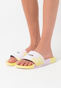 MSGM - CIABATTA DONNA WOMANS SLIDE - Mules - pink/yellow - 0