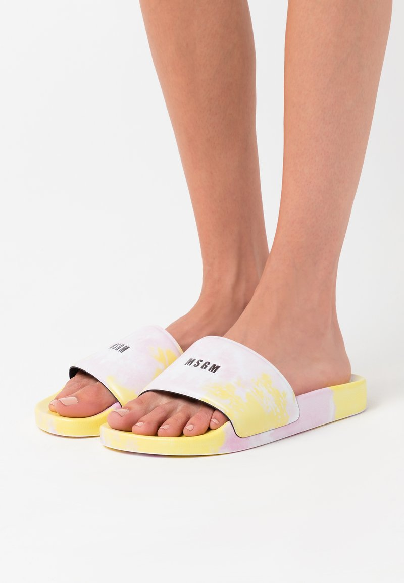 MSGM - CIABATTA DONNA WOMANS SLIDE - Mules - pink/yellow