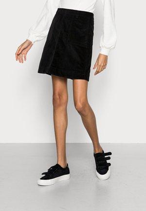 VICTORIA SOLID SKIRT - Mini skirt - black