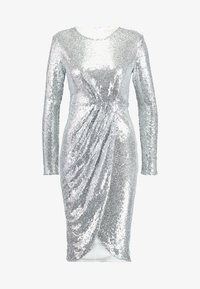 Nly by Nelly - PADDED SEQUIN DRESS - Cocktailkjoler / festkjoler - silver - 5