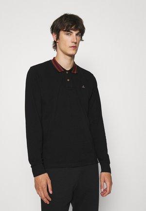 CLASSIC STRIPE COLLAR - Polo shirt - black