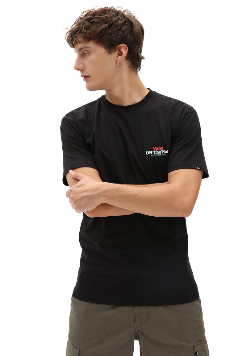 Vans - MN MOONLIGHT MOTEL SS - Printtipaita - black