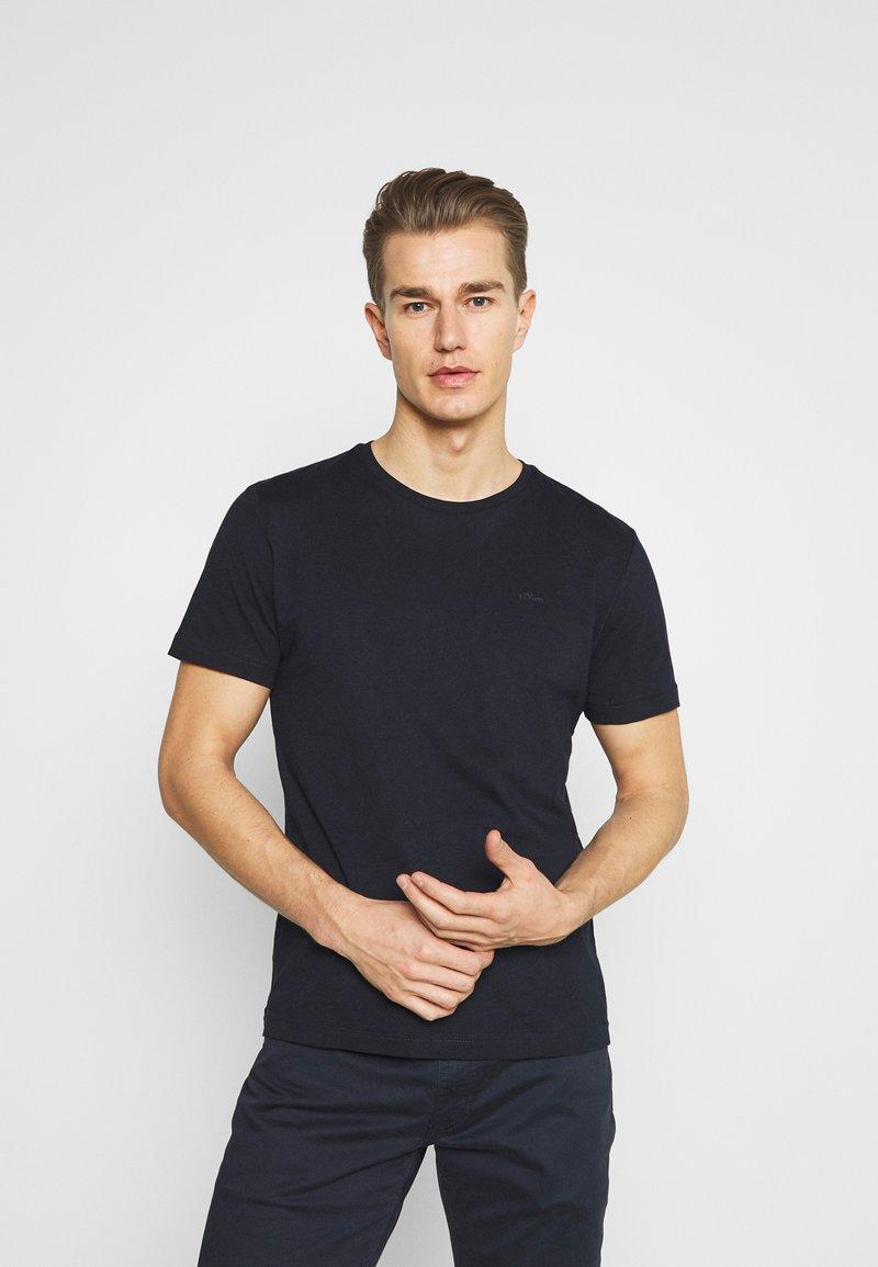 s.Oliver - Basic T-shirt - dark blue
