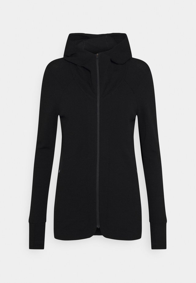 AWAY II ZIP HOOD - Huvtröja med dragkedja - black