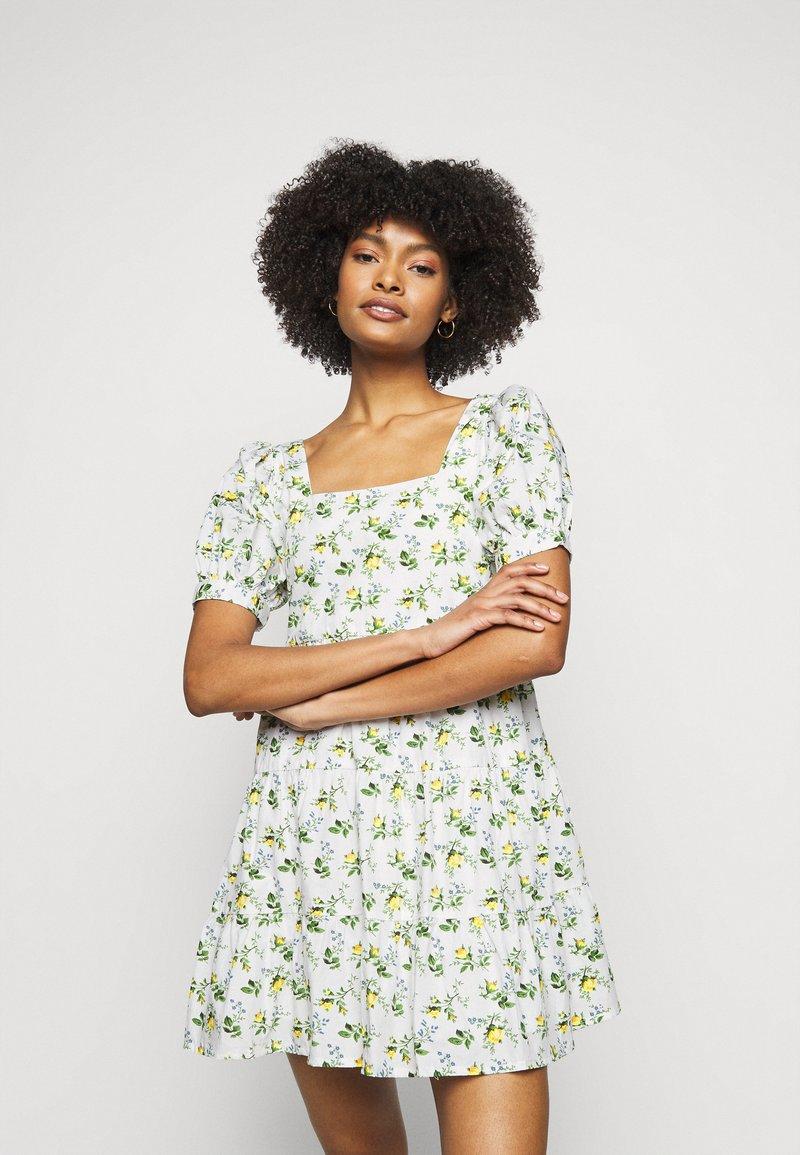 Faithfull the brand - ELDORA MINI DRESS - Denní šaty - white