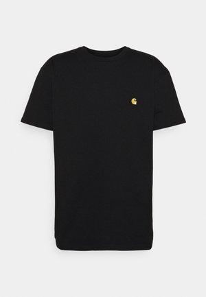 CHASE - T-paita - black/gold