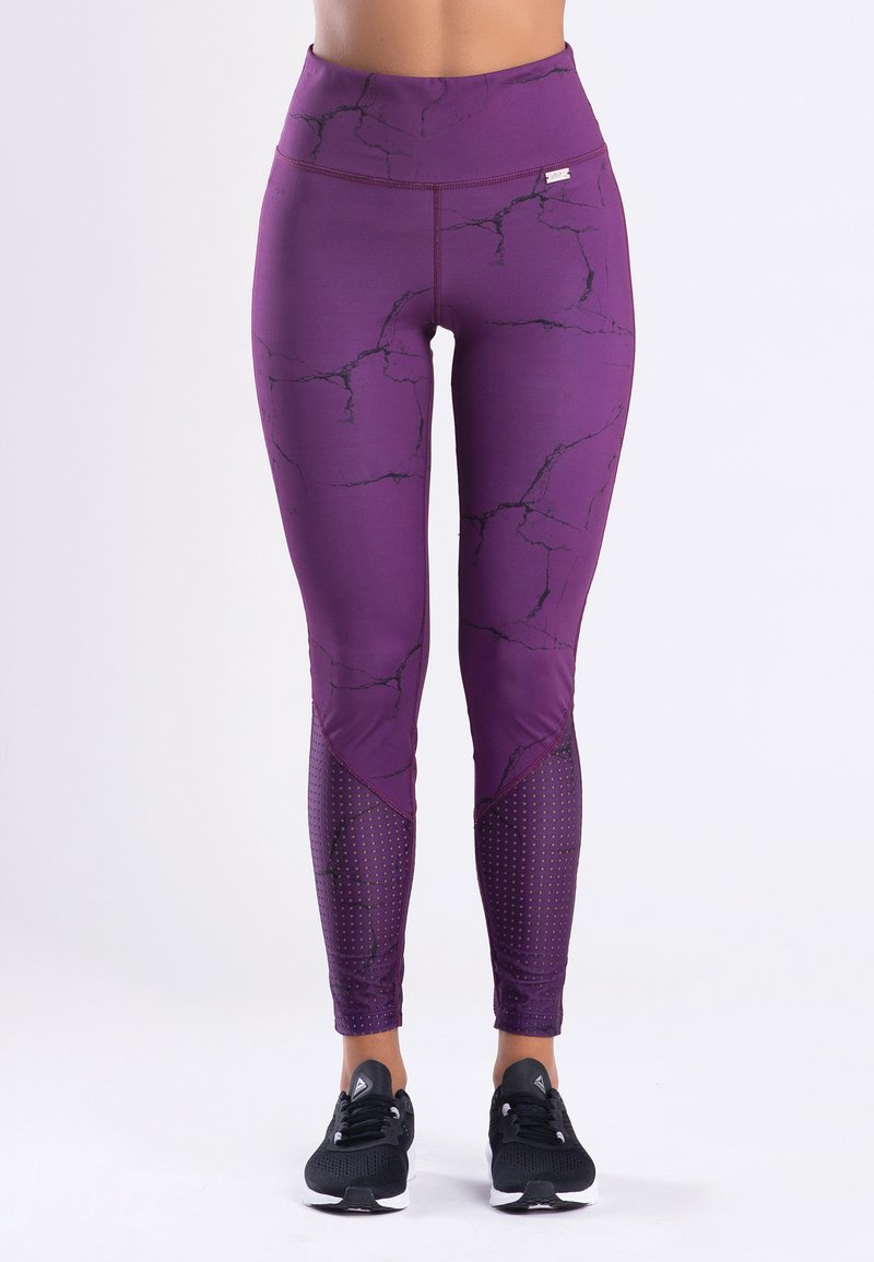 Zoe Leggings - MARBLE  - Trikoot - purple