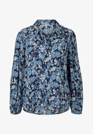 Hemdbluse - blue flower print