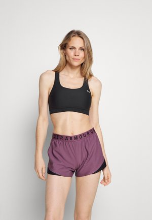 ROCK BRA - Medium support sports bra - black/summit white