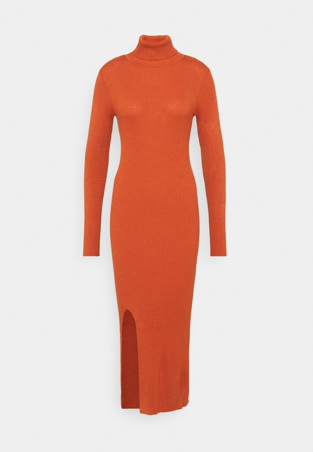 YASSBIRIELLA ROLLNECK DRESS - Jumper dress - rust