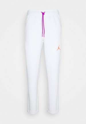 AIR PANT - Pantaloni sportivi - white/vivid purple/infrared