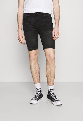Jeansshort - washed black