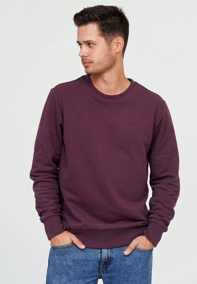 BURWOOD - Sweater - aubergine