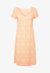 DRESS - Jersey dress - coral