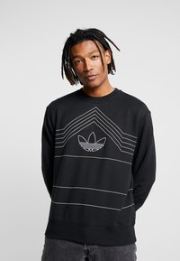 adidas Originals - RIVALRY CREW - Sweater - black/white - 0