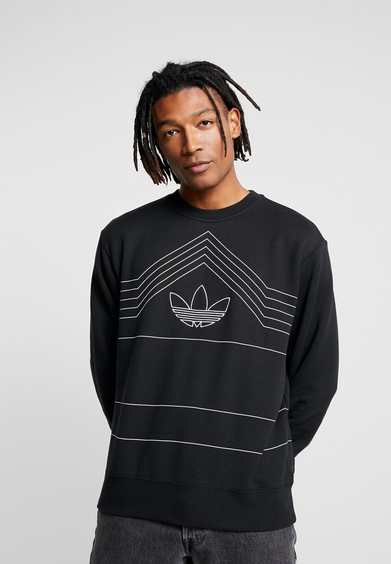 adidas Originals - RIVALRY CREW - Sweater - black/white