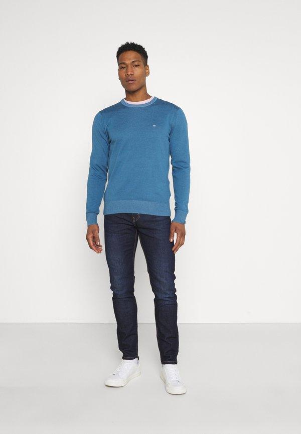 Calvin Klein C NECK - Sweter - blue/niebieski Odzież Męska DSYS