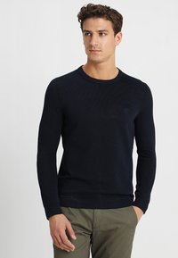 Marc O'Polo - STRUCTURED CREW NECK - Pullover - total eclipse - 0