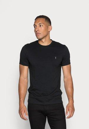 TONIC CREW - Basic T-shirt - jet black