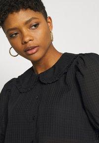 JDY - JDYLAURE COLLAR SHIRT - Button-down blouse - black - 4