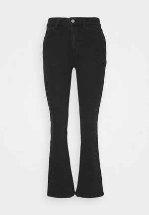 JDYNEWFLORA LIFE HIGH - Flared jeans - dark grey denim
