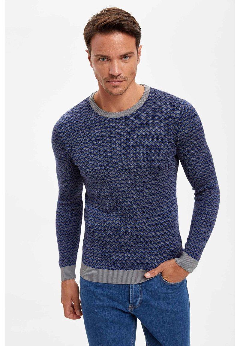 DeFacto - Stickad tröja - blue