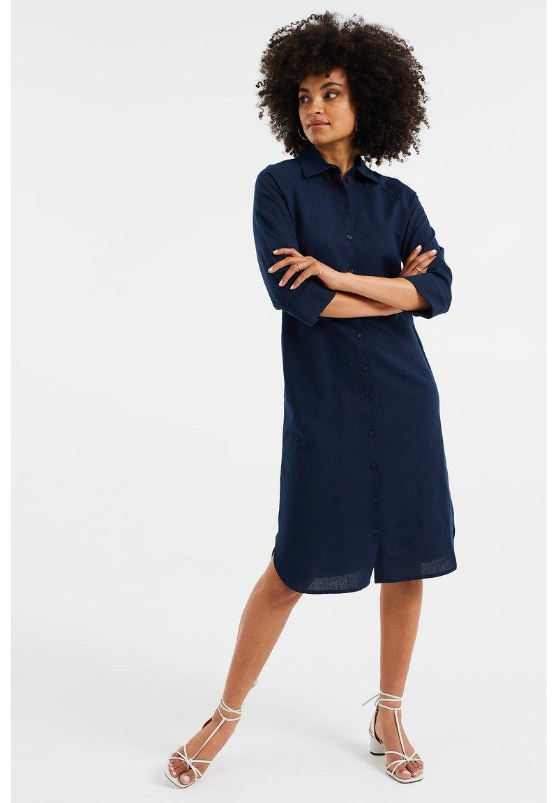 WE Fashion - Shirt dress - dark blue