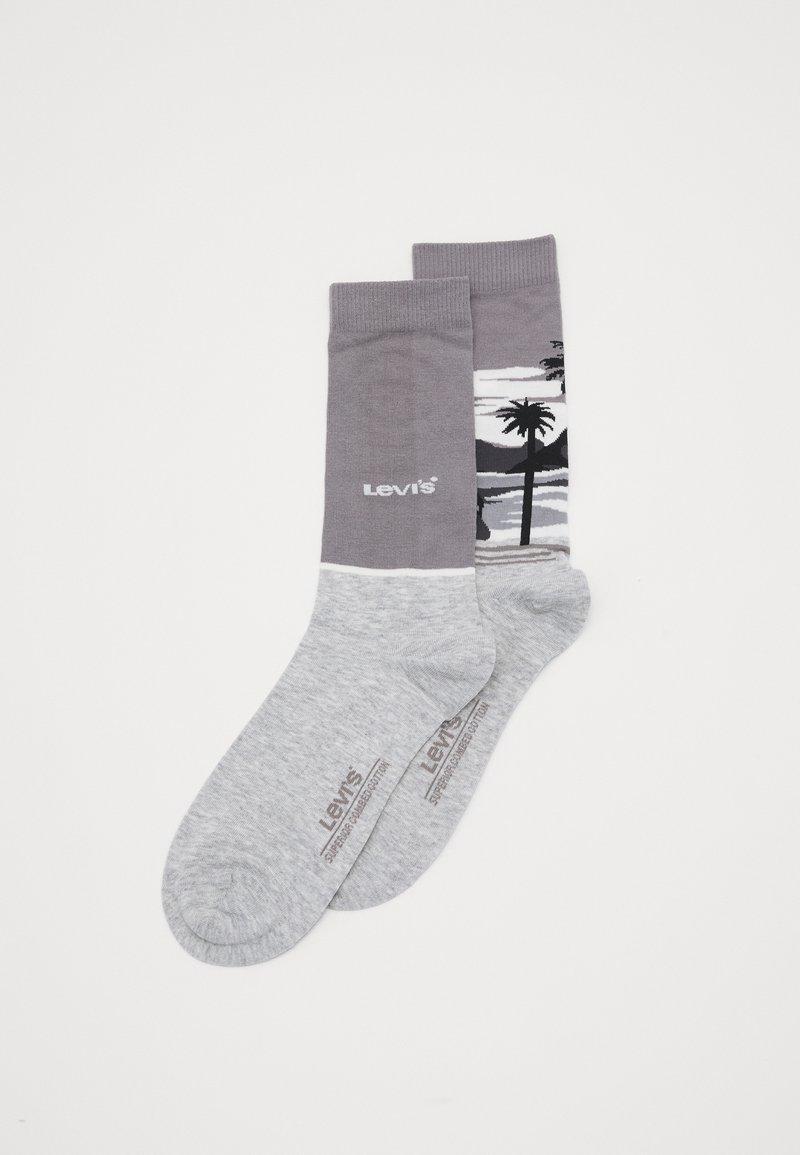 Levi's® - SURF SCENIC REGULAR CUT 2 PACK - Socks - light grey melange