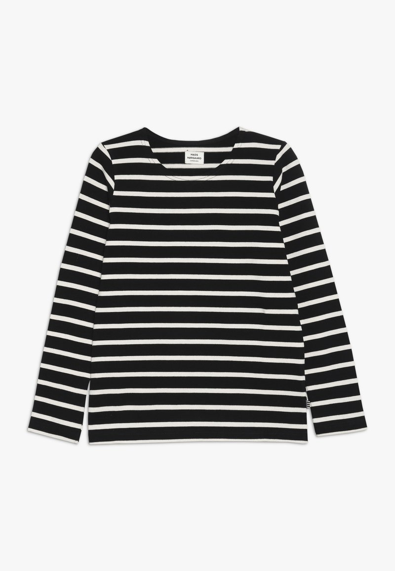 Mads Nørgaard - PABLO TASHINO  - Long sleeved top - black/white alyssum