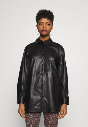 BYDAKE - Faux leather jacket - black