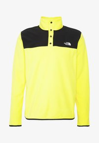 The North Face - MENS GLACIER SNAP NECK - Sweat polaire - lemon/black - 4