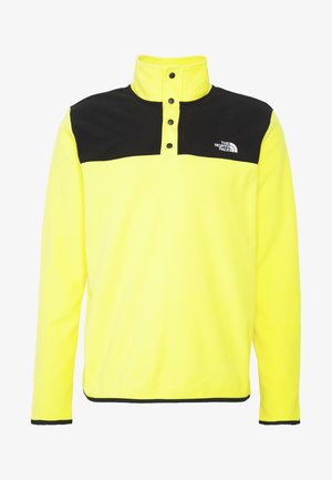 MENS GLACIER SNAP NECK - Sweat polaire - lemon/black
