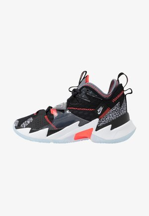 WHY NOT ZER0.3 - Basketbalschoenen - black/bright crimson/cement grey/white