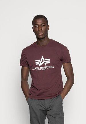 Print T-shirt - deep maroon