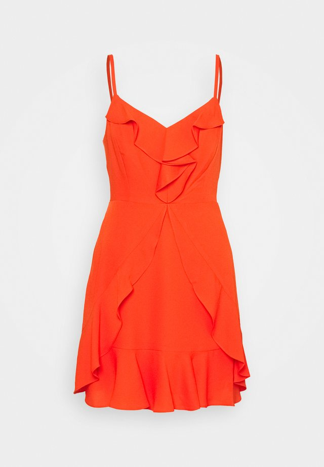 EVE SHORT DRESS - Korte jurk - open orange