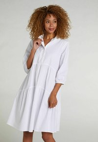 Oui - Shirt dress - optic white - 0
