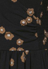 Thought - EVERLY WRAP DRESS - Žerzejové šaty - black - 2