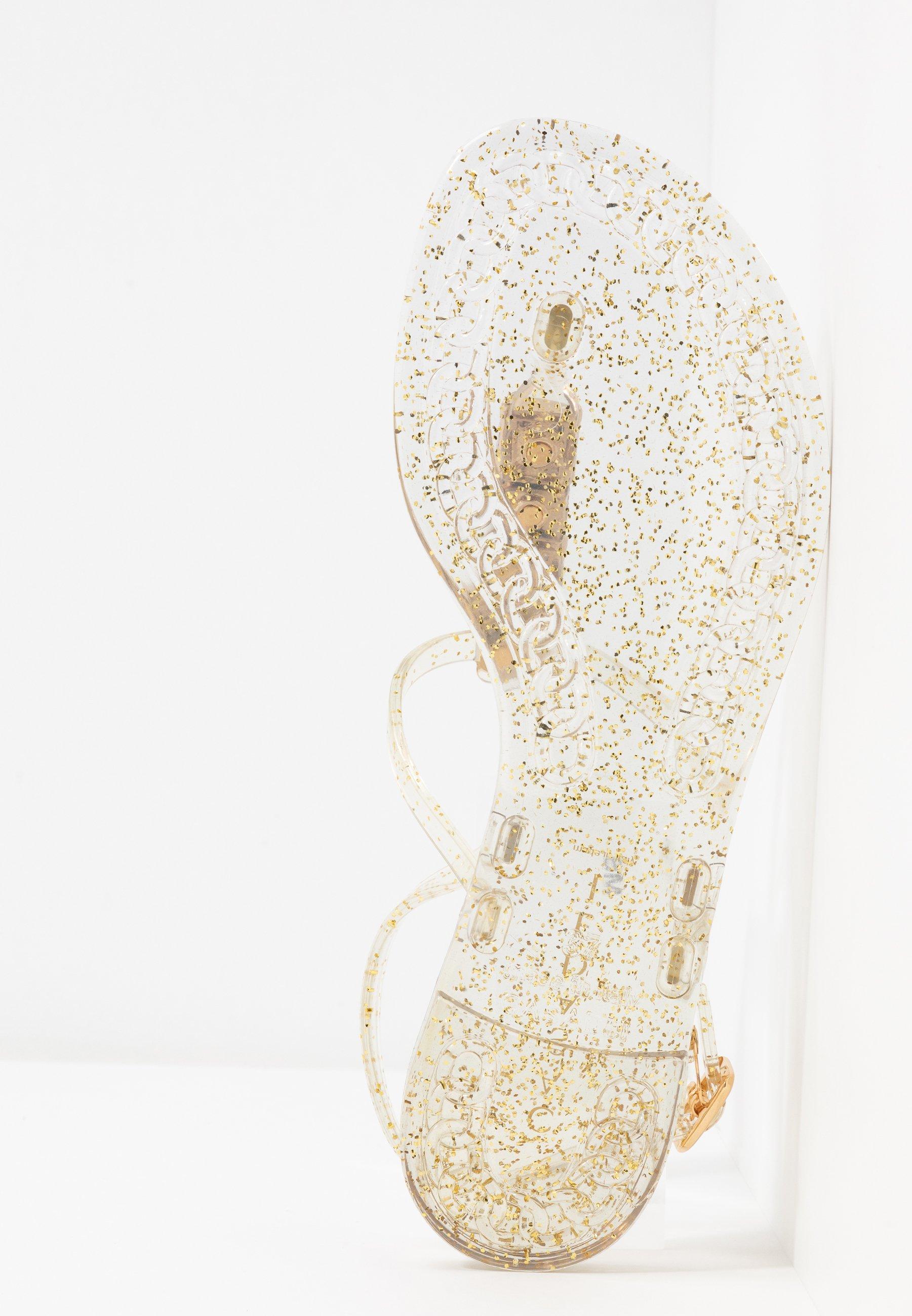 Casadei Zehentrenner - beach glitter ice/oro | Damen Schuhe 2020