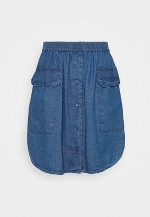 SLFCLARISA SHORT SKIRT - Mini skirt - medium blue denim