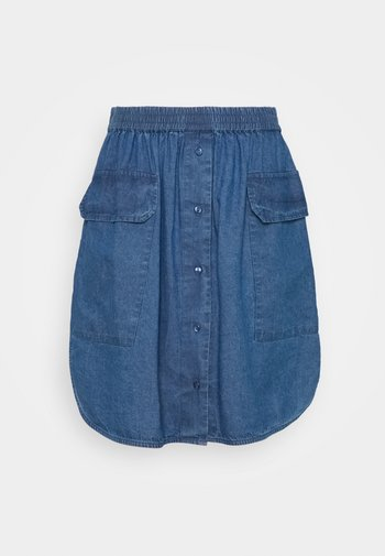 SLFCLARISA SHORT SKIRT - Mini skirt - medium blue denim