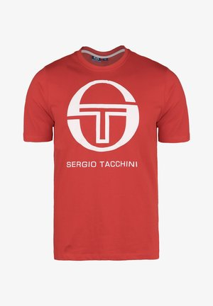 IBERIS - T-shirt con stampa - vintage red/white