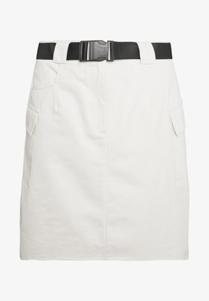 BELTED UTILITY SKIRT - Minirock - cream
