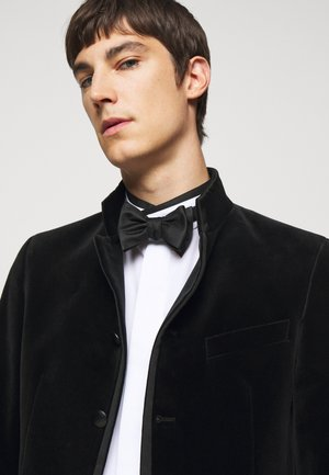 LUXE TEXTURED SOLID BOW - Bow tie - black