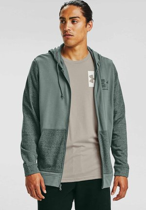 Zip-up hoodie - lichen blue