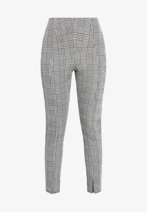 HOUNDSTOOTH SPLIT FRONT LEGGING - Leggings - Trousers - black