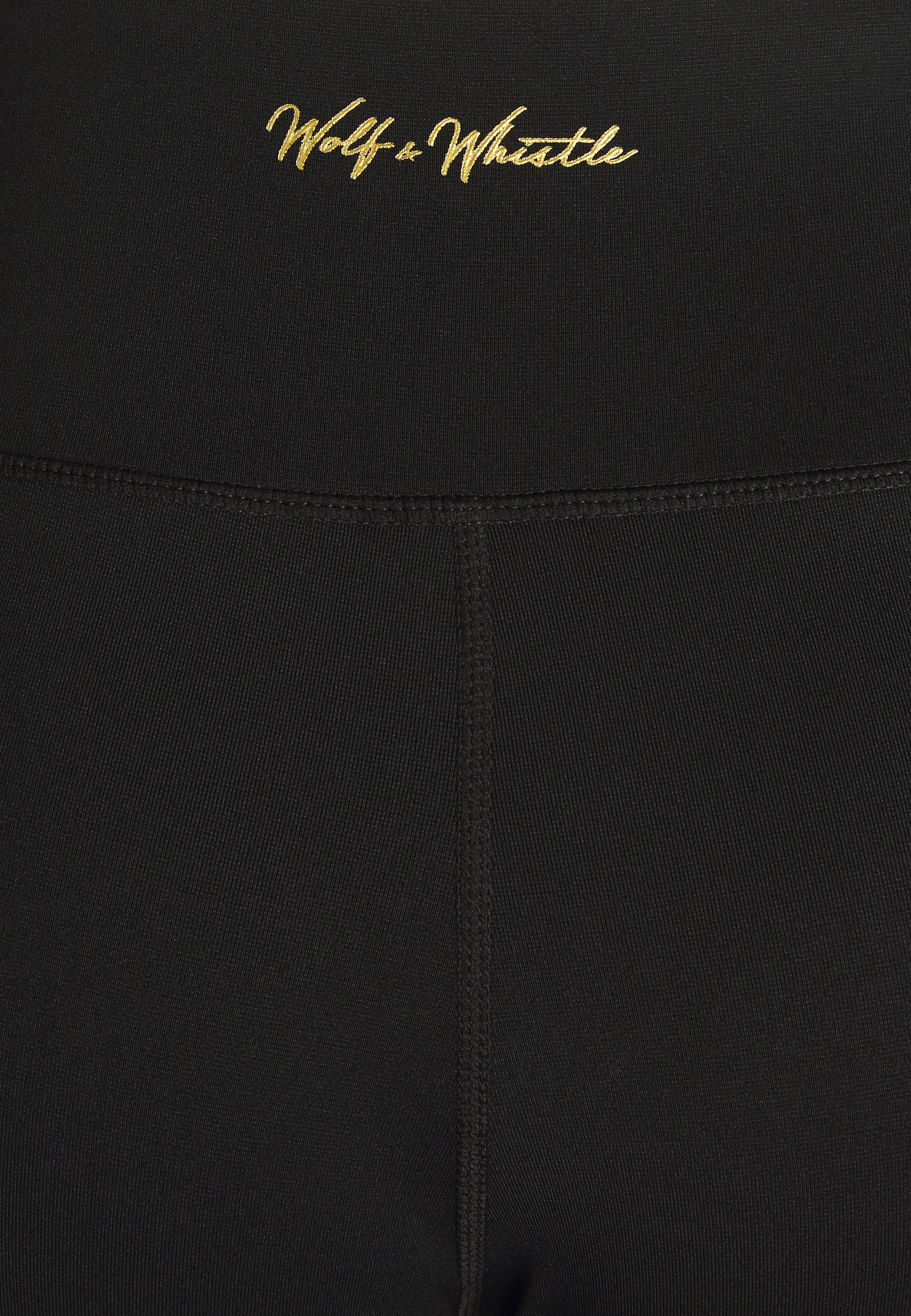 Wolf & Whistle PANEL LEGGINGS CORE - Leggings - black IKQpv