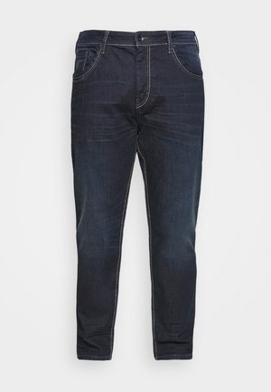Straight leg jeans - dark stone wash denim