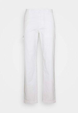 STRAIGHT LEG WORK PANT - Pantaloni - white