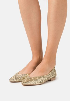 AMÉDÉE - Ballet pumps - gold sparkle